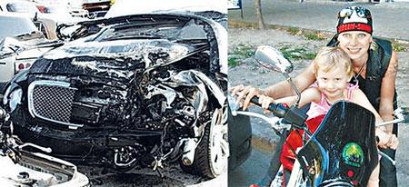 Cреди «мажорских дел» министр упомянул и громкое симферопольское ДТП, в котором депутатский сынок Файнгольд на «Бентли» (фото слева) сбил на смерть 25-летнюю байкершу Анну Мишуткину.