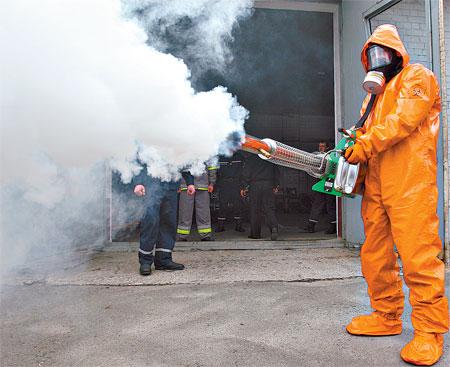 С помощью такой «пушки» удалось победить птичий грипп в Крыму.