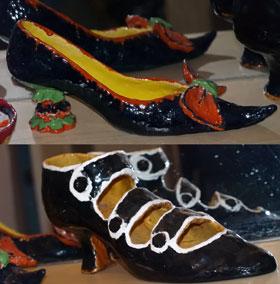 Помимо настоящей обуви продают и декоративную.