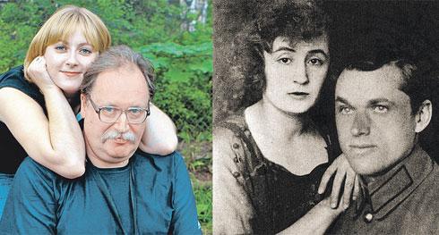 Правнучка Ариадна и внук Константин Рокоссовские (фото слева) и маршал Константин Рокоссовский с женой Юлией (фото справа).
