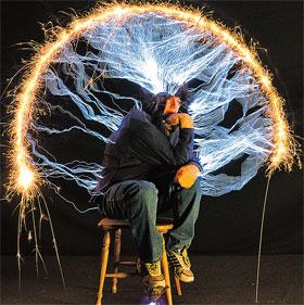 Питер Террен изобразил «Мыслителя» Родена. Впечатляет...