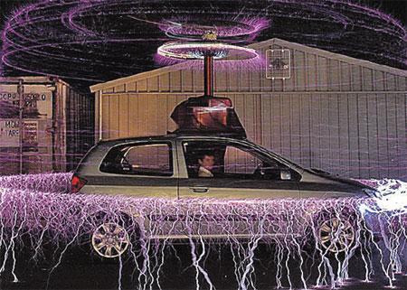 Сверкающее кольцо вокруг авто – неплохая защита от угонщиков.