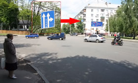 На пересечении улиц Фрунзе и Белицкой висит непонятный знак.