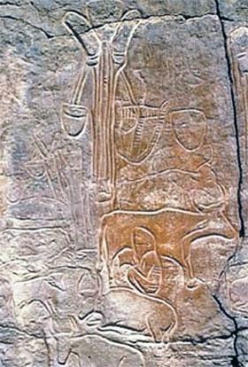 Древние фрески: когда-то в пустыне Сахара было полно воды, паслись стада коров и свиней.