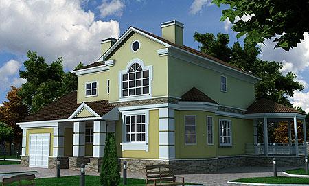 Лорак принимала непосредственное участие в создании проекта своей загородной резиденции.