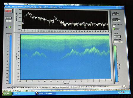 Вот что было видно на экране радара.