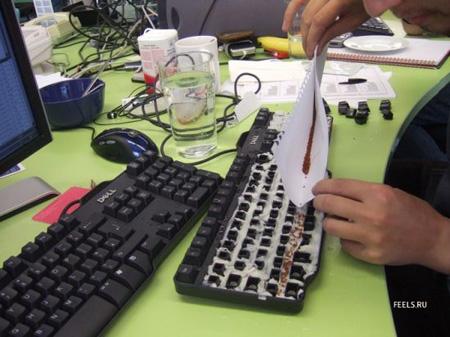 Делаем два: «осеменяем» клавиатуру