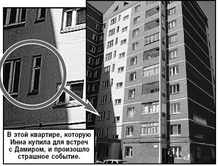 В этой квартире, которую Инна купила для встреч с Дамиром, и произошло страшное событие.