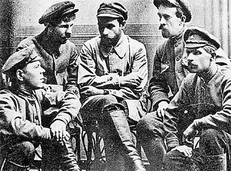 Убийцы Михаила Романова (слева направо): Марков, Колпащиков, Мясников, Иванченко, Жужгов.