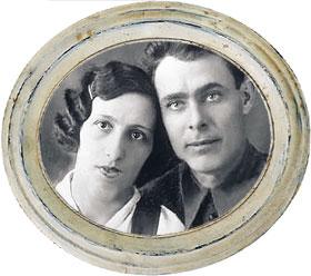 Молодой Брежнев и его жена Витя.