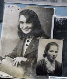 Так Мелания (слева) и Евгения выглядели перед расставанием в 1942 году.