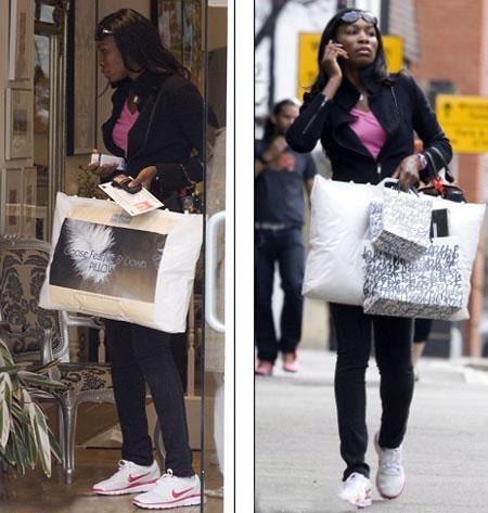Венус Уильямс накупила подушек, чтобы обустроить свое гнездышко. Фото: Daily Mail.