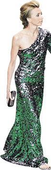 Красавица Светлана Бондарчук выбрала платье, которое больше подошло бы женщине в возрасте.