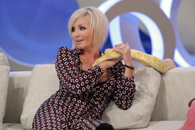Ради славы Билык готова обняться даже со змеей.
