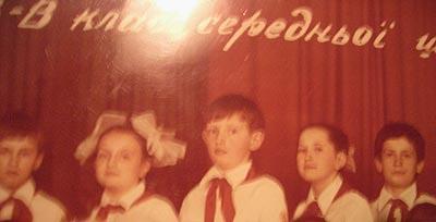 Арсений Яценюк - третьеклассник
