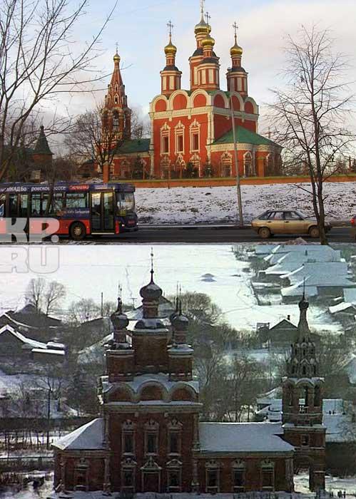 Основные уличные сцены снимали в марте. Метель в итоге вышла нарочито сильной – бумажные снежинки гоняли ветродуями. А вот панораму зимней заснеженной Москвы сняли позднее. Уже зимой 1974 года. Поэтому мы видим занесенные снегом домики деревни Тропарево