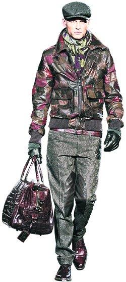 Большая сумка в тон кожаной куртке, Dolce&Gabbana.