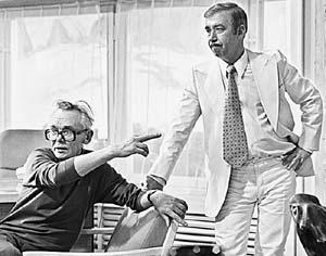 1981 год. На съемках «Спортлото-82» с Брониславом Брондуковым. Мэтр обожал лотереи и азартные игры.