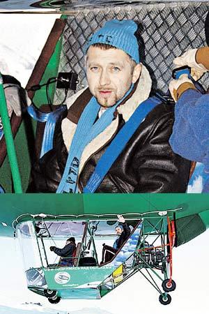 Серега в Куршевеле не только встал на лыжи, но и поднялся в небо.