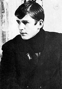 Студент ГИТИСа Саша Абдулов. Фото начала 70-х годов.