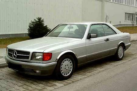 Mercedes-Benz 500 SEC 1986 года выпуска - от $9 до $11 тыс.