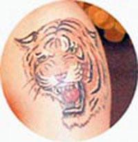 Каха: витязь с тигром на шкуре.