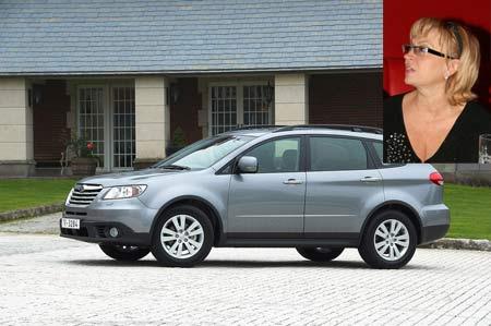 Вот на такой Subaru Tribeca ехала Кужель. Иномарка (кстати, она была застрахована) стоимостью более 42 тысяч евро восстановлению не подлежит.