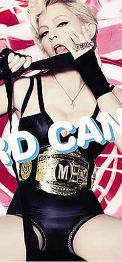 Задорной красоткой смотрит на нас Мадонна с обложки альбома.
