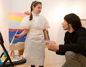 Кристина Литовченко нашла рисование делом занятным.