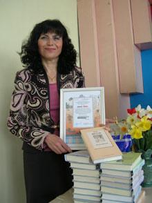 Наталья РАДЧЕНКО: - Получить в подарок книги для школы - безмерная радость.
