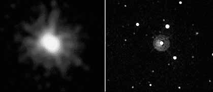 Вот такой необычный «взрыв» на небе можно было увидеть 31 марта с. г.