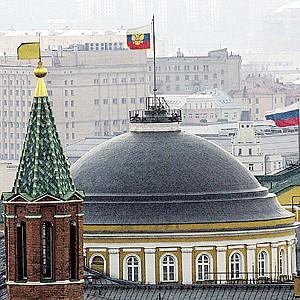 Первый корпус Кремля - главная резиденция главы государства.