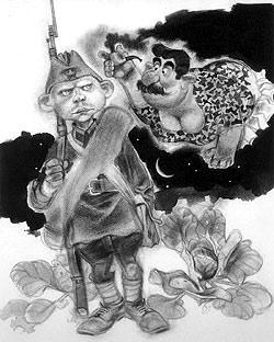 Такого Чонкина увидели читатели первых изданий книги Войновича.