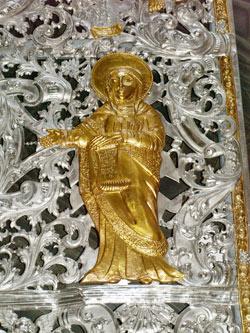 Святая Анна со свитком, пророчествующим о рождении Христа от рода царя Давида.
