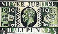 Настоящая британская почтовая марка