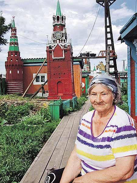 Жена зодчего Мария Пашнева поддерживала мужа во всех начинаниях - и огород вскопать, и башню возвести.