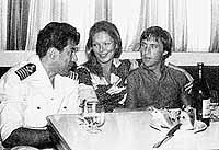 Владимир и Марина Влади в гостях у капитана Назаренко.