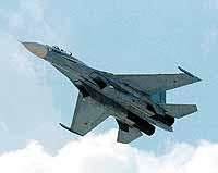 Истребители Су-27 - гордость советской, а теперь российской авиации.