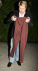 - Жалко, дорогие штаны были...