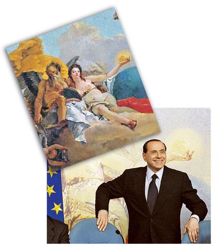 Прекрасный бюст женщины, олицетворяющей Истину (фото вверху), итальянские чинуши стыдливо замазали краской (снимок ниже).