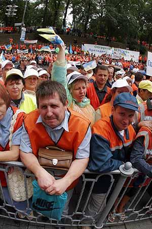 Под стенами Кабмина в Киеве вчера состоялся массовый митинг газовиков.
