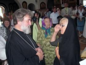 Аде Роговцевой священник подарил икону.