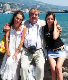 Наши победители - Ольга Кожемякина, Валентин Сологуб и Светлана Просович.