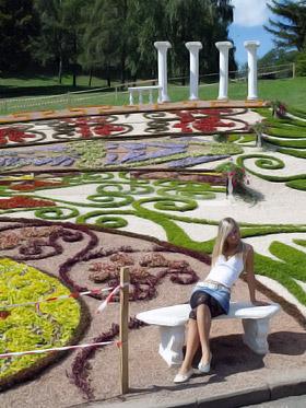 Каждый год организаторы выставки придумывают новые орнаменты из цветов.