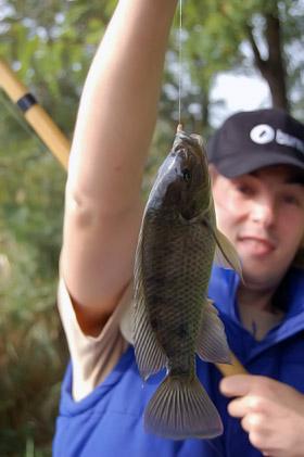 Даже маленькая рыбешка приводит в восторг рыбака.
