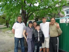 Денис Юрченко в кругу семьи.