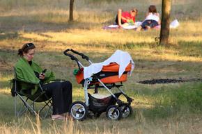 Это место привлекает молодых мам тишиной и чистым воздухом.