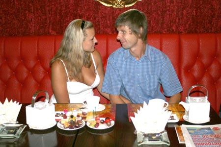 Ирина и Дмитрий Головины медовый месяц провели на море.