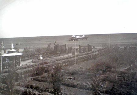 Так выглядел Днепропетровский аэропорт в 50х годах прошлого века.