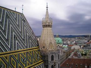 Такой вид открывается с колокольни собора Святого Стефана.